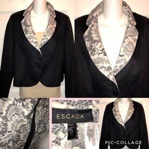 Navy blue Escada size 2 blazer jacket